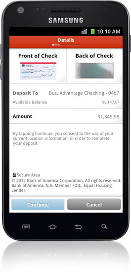 Mobile Banking Features Offered by Bank of America - Small ...