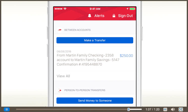 How to Transfer Money Between Accounts in the Mobile Banking app